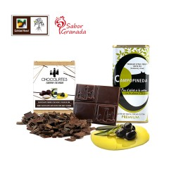 Tableta chocolate negro con...