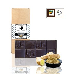 Black chocolate tablet with...